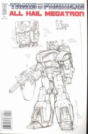 Transformers All Hail Megatron #6 Retail Incentive Sketch RI Variant (2008) IDW Publishing comic book